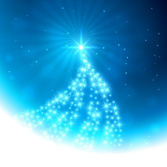 Gloeiende kerstboom