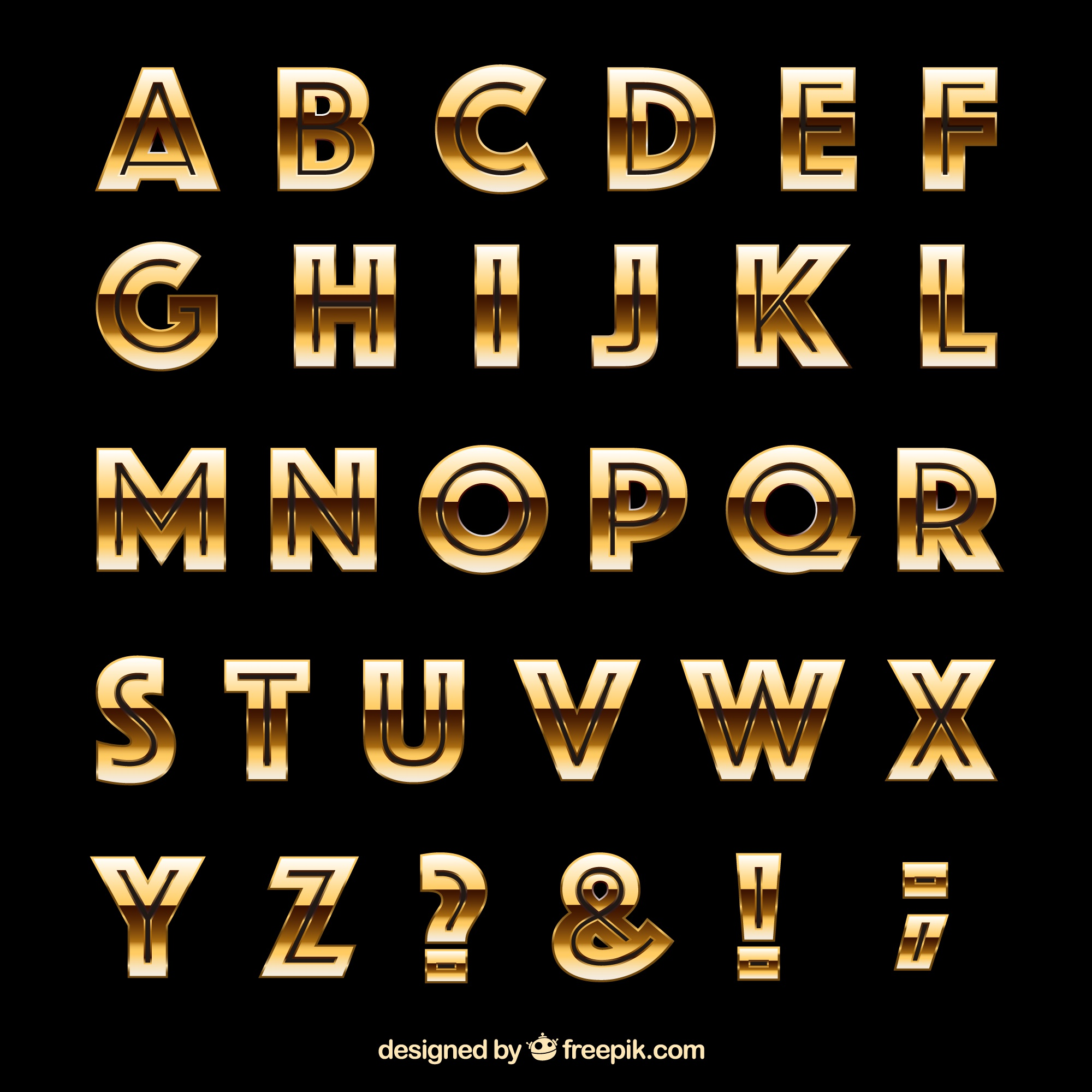 Golden typografie in retro stijl
