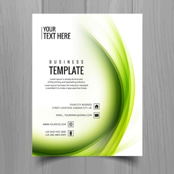 Golvende zakelijke brochure
