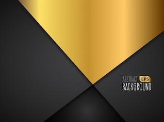 Gouden en zwart abstract ontwerp als achtergrond