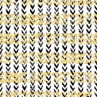 Gouden en Zwarte naadloze patroon