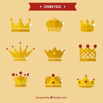 Gouden kronen pak
