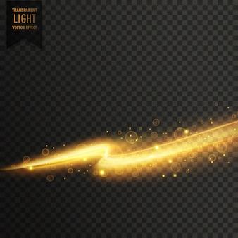 Gouden licht streal transparante licht effect achtergrond