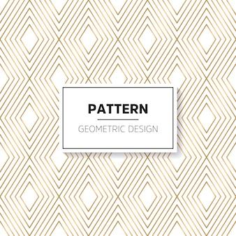 Gouden luxe patroon met geometrisch design