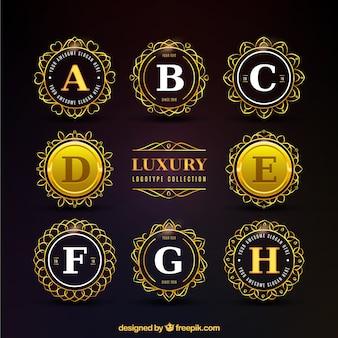 Gouden luxe ronde logo collectie