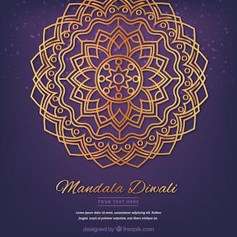 Gouden mandala diwali
