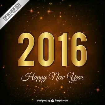 Gouden nieuwe jaar 2016 achtergrond
