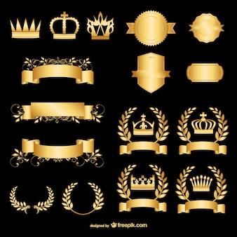 Gouden ontwerp elementen
