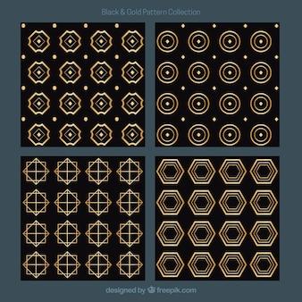 Gouden patronen van abstracte vormen