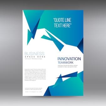 Gradient blue business brochure