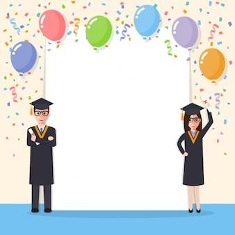 Graduation achtergrond ontwerp