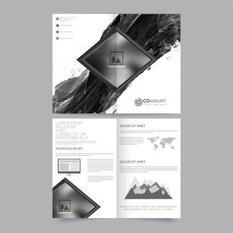 Grafisch rapport banner boek corporate