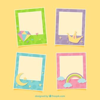 Grappig beeld geplaatste frames