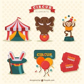 Grappig circus elementen collectie