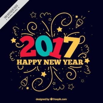 Grappig nieuw jaar achtergrond