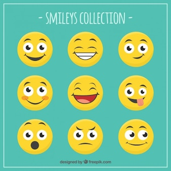 Grappig smileys collectie