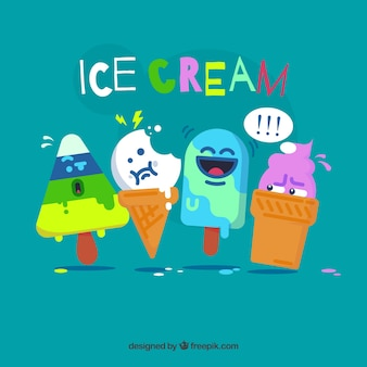 Grappige ijskarakters