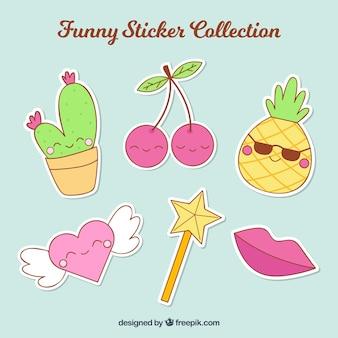 Grappige sticker collectie