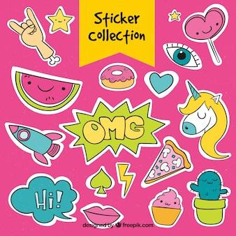 Grappige stickerscollectie