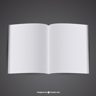 Gratis mockup van geopende notebook