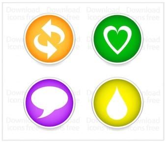 Gratis sociale iconen vector set
