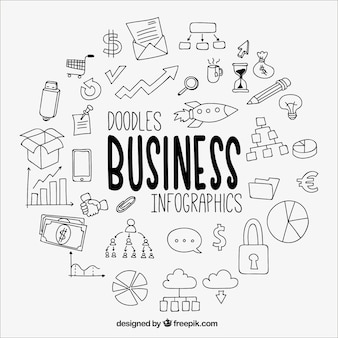 Great business infographic met tekeningen
