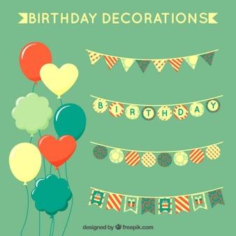 Green verjaardag decoraties