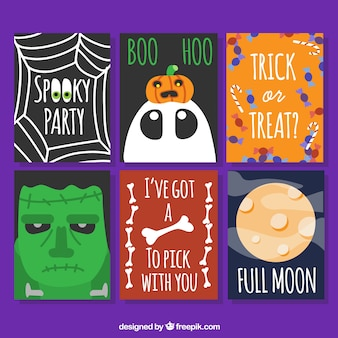 Griezelige reeks Halloween kaarten