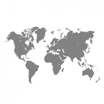 Grijs wereldkaart