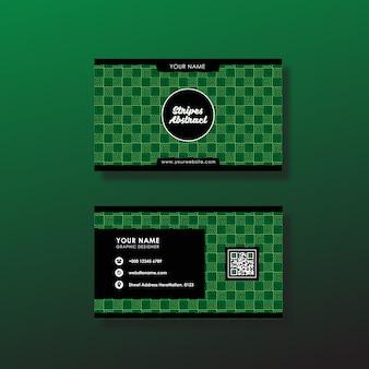 Groen visitekaartje ontwerp