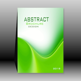 Groene abstracte brochure