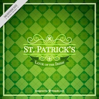 Groene achtergrond van Sint Patrick's ruiten
