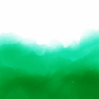 Groene aquarel achtergrond vectorector