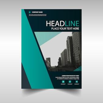 Groene creatieve jaarverslag cover van het boek template