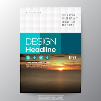 Groene eenvoudige grafische achtergrond voor Brochure jaarverslag dekking Flyer Poster ontwerp outsjabloon