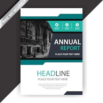 Groene en witte zakelijke brochure