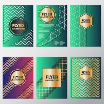 Groene flyers design collectie