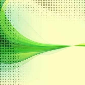 Groene golvende achtergrond