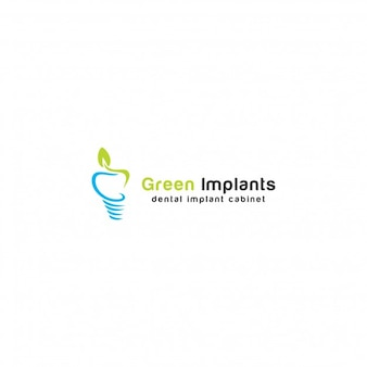 Groene implantaten Logo Template