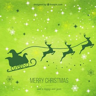 Groene kerst achtergrond