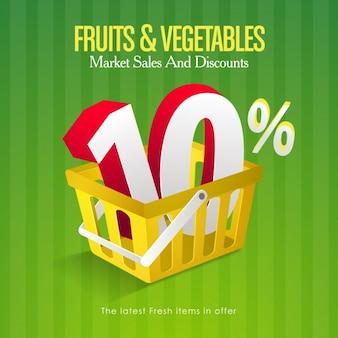 Groenten en fruit verkoop achtergrond