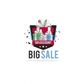 Groot verkoop logo ontwerp
