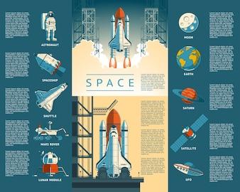 Grote collectie iconen van de ruimte