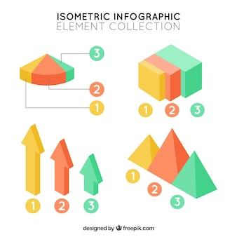 Grote infographic elementen in isometrisch ontwerp