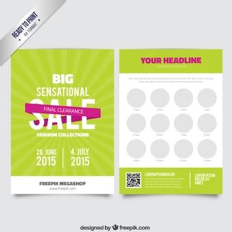 Grote internationale verkoop brochure