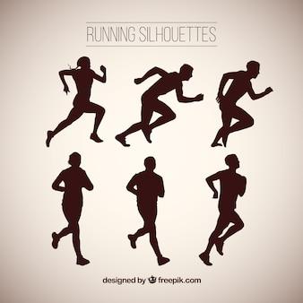 Grote pak silhouetten running