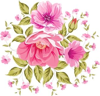 Grote roze bloemen