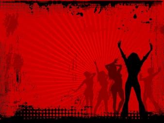 Grunge partij achtergrond