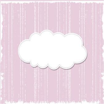 Grunge roze sjabloon achtergrond met tekstballon