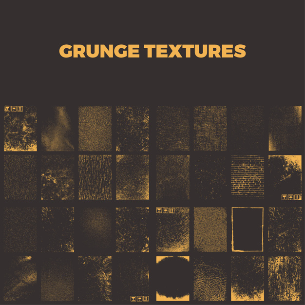 Grunge texturen collectie
